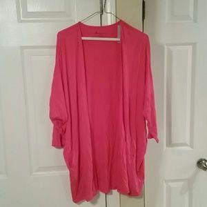 Lane Bryant Pink 3/4 Sleeve Top Size 14/16